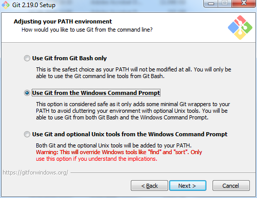 Installation von git for Windows | th-h de